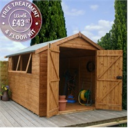 12 x 8 Waltons Groundsman Tongue and Groove Apex Garden Shed