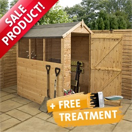 6' x 4' Tongue and Groove Apex Wooden Shed