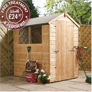 6 x 4 Waltons Tongue and Groove Apex Wooden Shed