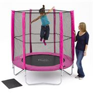 6ft Plum Products Pink Trampoline and Enclosure