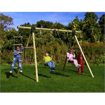 11 x 7 Plum Products Gibbon Four Swing Set Outdoor Activity Centre