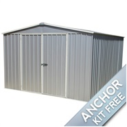 3m x 3.66m Waltons Regent Titanium Easy Build Metal Shed