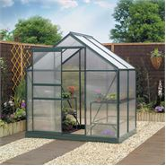 6 x 6 Gardman Polycarbonate Greenhouse