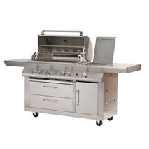 Lifestyle Pro Connoiseur Pro 5 Burner Stainless Steel Barbecue