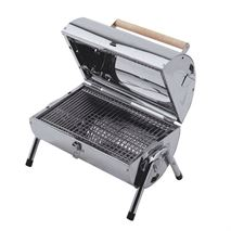 Lifestyle Explorer Stainless Charcoal Barrel Barbecue