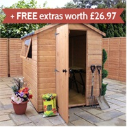 7 x 5 Waltons EasyFit Tongue and Groove Apex Garden Shed