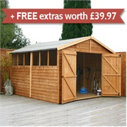 15 x 10 Waltons Overlap Apex Modular Garden Workshop