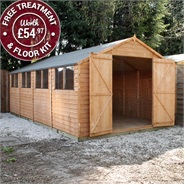 20 x 10 Waltons Overlap Apex Modular Garden Workshop