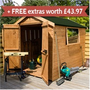 10 x 6 Waltons EasyFit Tongue and Groove Apex Garden Shed