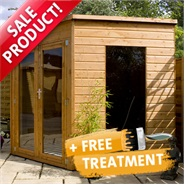 8 x 8 Waltons Wooden Corner Summerhouse