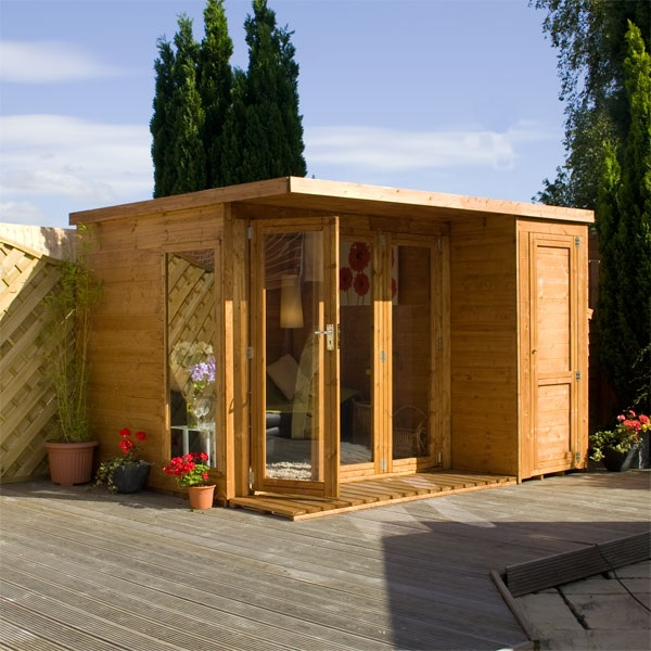 10 X 8 Waltons Contemporary Summerhouse With Side Shed RH