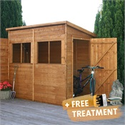 8 x 4 Waltons Tongue and Groove Pent Garden Shed