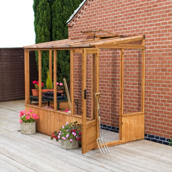 8 X 4 Waltons Lean To Pent Wooden Greenhouse