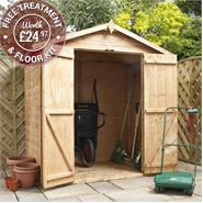 4 x 6 Waltons Mini Tongue and Groove Apex Wooden Shed