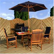 4 Seater Waltons Acacia Garden Furniture Set