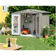 "10' 4"" x 9' 10"" StoreMore Europa Grey Apex Metal Shed"