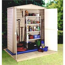 3ft x 5ft StoreMore Vinyl Hut Apex Metal Shed With floor