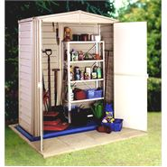 3' x 5' StoreMore Vinyl Hut Apex Metal Shed With floor