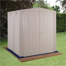 5ft8  x 5ft10  StoreMore Vinyl Hut Apex Metal Shed With floor