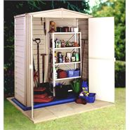 "5'8"" x 5'10"" StoreMore Vinyl Hut Apex Metal Shed With floor"