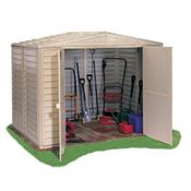 8ft x 6ft StoreMore Steel Framed Vinyl Apex Shed