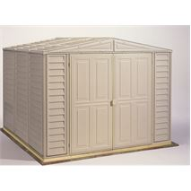 8 x 8 StoreMore Steel Framed Vinyl Clad Apex Metal Shed