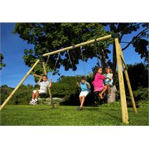 7 x 7 Plum Products Colobus Wooden Swing Set