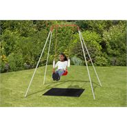 6 x 6 Plum Single Outdoor Swing Set
