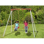 7 x 6 Plum Sedna Metal Swing Set