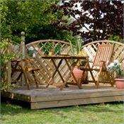 1.8m x 1.8m Waltons Timber Decking Kit