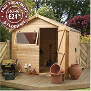 6 x 8 Waltons Tongue and Groove Reverse Apex Garden Shed
