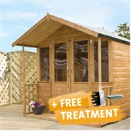 8 x 7 Waltons Bournemouth Wooden Summer House