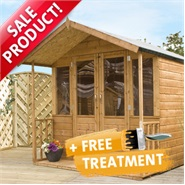 8 x 7 Waltons Bournemouth Wooden Summerhouse