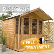 7 x 7 Waltons Bournemouth Wooden Summerhouse