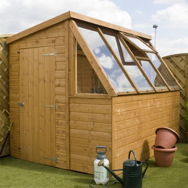 8 x 6 waltons tongue and groove potting shed wooden greenhouse Green house sheds