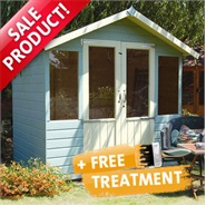 7 x 5 Waltons Bournemouth Wooden Summer House