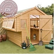 8 x 8 Waltons Tongue and Groove Double Sided Garden Potting Shed