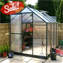 10 x 6 Waltons Green Extra Tall Polycarbonate Greenhouse - With FREE Base!