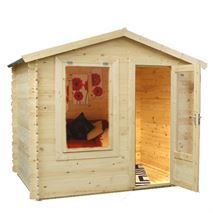 2.5m x 2m Waltons Mini Log Cabin Studio