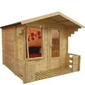 2.5m x 2.7m Walton Mini Studio Log Cabin with Veranda
