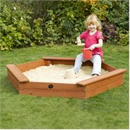 5 x 4 Plum Products Hexagonal Sand Pit
