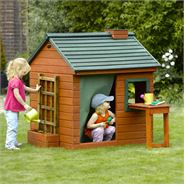 4 x 4 Plum Products Gardeners Cottage Wooden Playhouse