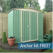 6 x 4 Waltons Apex Metal Shed