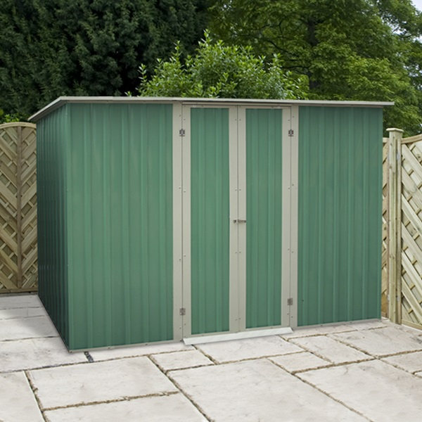 8 x 4 waltons pent metal shed for Garden shed 5 x 4