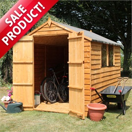 8' x 6' Overlap Apex Wooden Shed