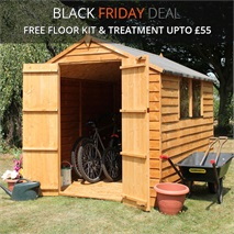 8 x 6 Waltons Overlap Apex Wooden Shed DD