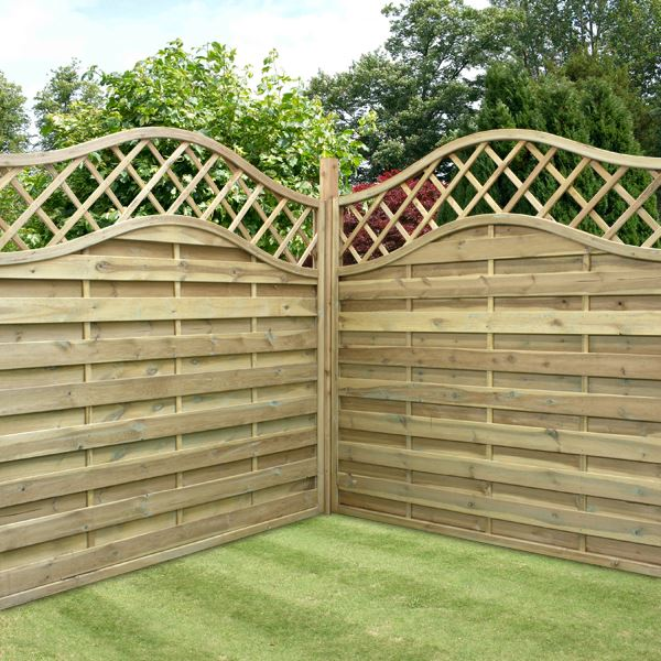 5 39 11 X 5 39 11 Waltons Prague Wooden Garden Fencing Panels