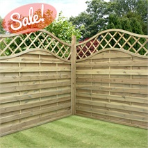 "5'11"" x 5'11"" Waltons Prague Wooden Garden Fencing Panels"