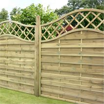 "4ft x 5'11"" Waltons Prague Wooden Garden Fencing Panels"