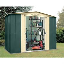 8ft x 6ft StoreMore Canberra Eight Apex Metal Shed